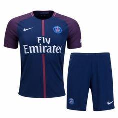 NEW  SEASON  PSG  HOME  WITH  SHORT  2017 Soccer Uniforms 2677eba9f15f0