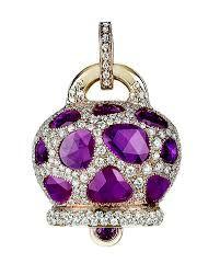 "CHANTECLER of Capri ""Campanella"" - Amethyst and Diamonds set in Gold."