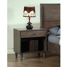 @Overstock.com - Vilas Light  Charcoal  Nightstand - Create the bedroom of your dreams with this Vilas nightstand. This nightstand showcases a rich Light Charcoal finish to complement any bedroom decor.  http://www.overstock.com/Home-Garden/Vilas-Light-Charcoal-Nightstand/6578047/product.html?CID=214117 $139.99