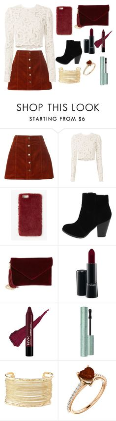 """""""Untitled #117"""" by megan-hinson ❤ liked on Polyvore featuring Dorothy Perkins, A.L.C., Missguided, BP., MAC Cosmetics and Charlotte Russe"""