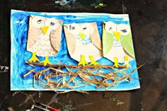 A cute owl craft to go along with the book Owl Babies!