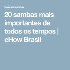20 sambas mais importantes de todos os tempos | eHow Brasil