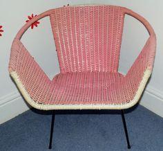 Fabulous 1950s Pink Plastic Woven Chair. £40.00, via Etsy.