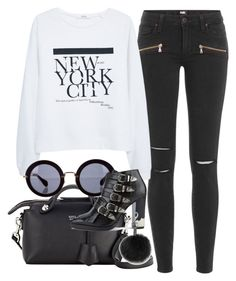 """Untitled #2989"" by glitter-the-world ❤ liked on Polyvore featuring Paige Denim, MANGO, Fendi, Miu Miu, Toga and Rebecca Minkoff"