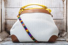 CUBO - yellow calf leather and braided ivory raffia - 2015 Spring Summer