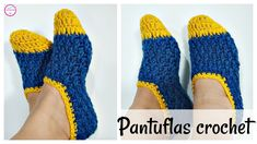Crochet Slippers For Adults - Crochet Ideas Diy Crochet Slippers, Crochet Slipper Pattern, Crochet Baby Sandals, Crochet Shoes, Crochet Beanie, Love Crochet, Learn To Crochet, Easy Crochet, Crochet Patterns