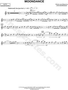 "Van Morrison ""Moondance - Alto Saxophone"" Sheet Music (Alto Saxophone Solo) - Download & Print"