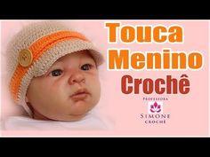 Passo a passo Touca Gorro Crochê Menino - Professora Simone - YouTube