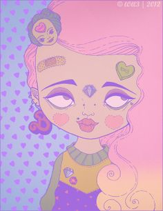 ♡ Beverly [ink on paper. colors with photoshop] by lOll3.