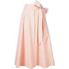 Lisa Marie Fernandez Gingham Check Full Skirt - Orange (6 930 ZAR) ❤ liked on Polyvore featuring skirts, all bottoms, bottoms, kirna zabete, lisa marie fernandez, pink skirt, full skirt, orange skirt and pink gingham skirt