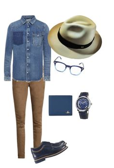 """""""I´m feeling blue!"""" by ecuaandinohats ❤ liked on Polyvore featuring Balmain, Valentino, Tod's, Ecua-Andino, Corinne McCormack, Vivienne Westwood, Frédérique Constant, men's fashion and menswear"""