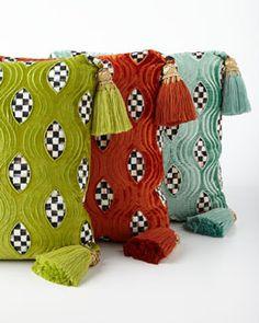 -5BL7 MacKenzie-Childs Cutaway Pillow Подушка Элемент Отделки, Декоративные  Подушки, Интимный Разговор 7df5861f229