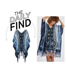 """The Daily Find: Band Of Gypsies Kaftan"" by polyvore-editorial ❤ liked on Polyvore featuring Topshop and DailyFind"
