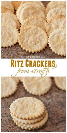 Your favorite buttery crunchy Ritz Cracker made at home from scratch! Your favorite buttery crunchy Ritz Cracker made at home from scratch! Baking Recipes, Snack Recipes, Dessert Recipes, Recipes Dinner, Potato Recipes, Pasta Recipes, Crockpot Recipes, Soup Recipes, Vegetarian Recipes