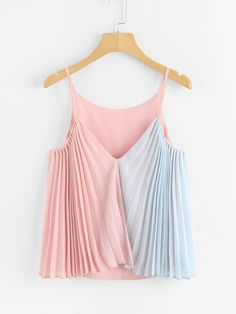 Multicolor Pleated Top