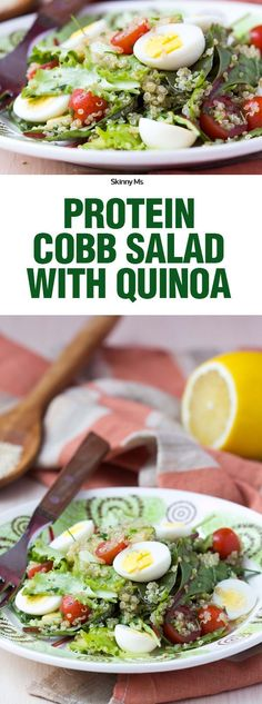 This protein-packed salad recipe makes a delicious lunch or satisfying side dish! Complete with nutty and delicious quinoa, the dish provides loads of tastes and textures and delivers countless health benefits. #cleaneating #quinoa