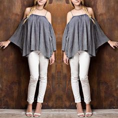 Cold Shoulder Casual Candy Top