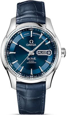 431.33.41.22.03.001  NEW OMEGA DEVILLE HOUR VISION MENS LUXURY WATCH IN STOCK - Order by noon and wear it the next day!   - FREE Overnight Shipping | Lowest Price Guaranteed    - NO SALES TAX (Outside California)- WITH MANUFACTURER SERIAL NUMBERS- Blue Dial - Day