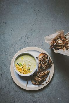 Mushroom Toast, Avocado Corn soup, Basil Shoestring Fries   bettysliu.com