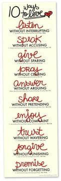 10 ways to love..
