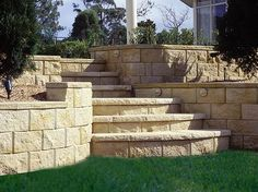 Retaining Wall Cost With Stairs Stone
