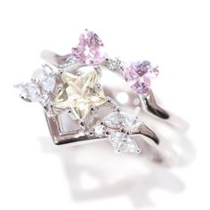 Prom Earrings, Prom Jewelry, Star Jewelry, Wedding Jewelry, Jewelry Art, Jewelry Ideas, Sterling Silver Wedding Rings, Silver Engagement Rings, Dainty Bracelets