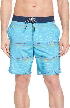 681c95fd45 Men's Big & Tall 9 Striped Swim Trunks - Goodfellow & Co Blue 3XL in ...