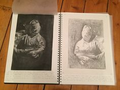 Trying to create a softer effect through media by using subtractive drawing with charcoal and a mono-print A Level Sketchbook, Mono Print, Charcoal, Relationships, Create, Drawings, Books, Art, Art Background