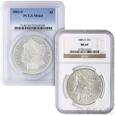 MS64 Graded Morgan Silver Dollar 1878-1904 Silver Coins NGC / PCGS: MS64 Graded Morgan… #GoldCoins #SilverCoins #GoldBullion #SilverBullion