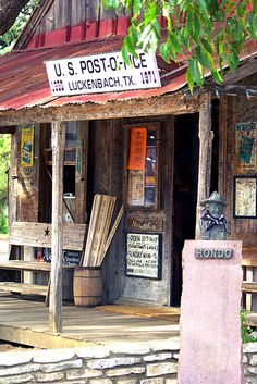 Luckenbach ,Texas ~ everybody's somebody  with a population of 3