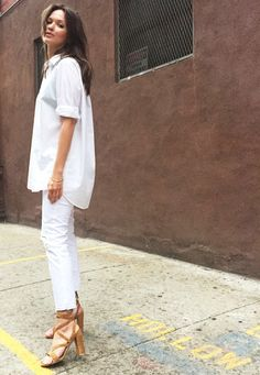 white jeans,  @roressclothes closet ideas #women fashion outfit #clothing style apparel