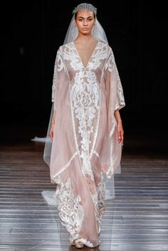 """Cairo"" by Naeem Khan   Article: Innovative %26 Imaginative Gowns from Naeem Khan Bridal Spring 2017   Photography: Dan Lecca   Read More:  http://www.insideweddings.com/news/fashion/innovative-imaginative-gowns-from-naeem-khan-bridal-spring-2017/2961/"