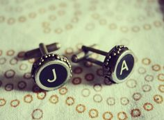 Design Your Own Vintage Typewriter Key Cuff Links by Cloud9Jewels, $22.00