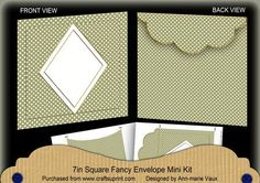 Olive Dotty Diamond 7x7inch Easy Envelope Mini Kit on Craftsuprint - Add To Basket!
