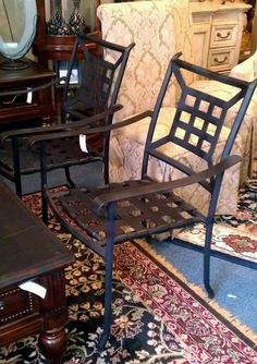 Outdoor Chairs, Set/4, $80.00. - Consign It! Consignment Furniture