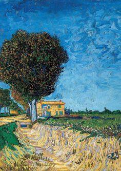 afroui:  Vincent Van Gogh | A Lane Near Arles