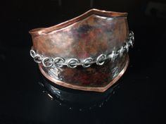 Fold Formed Copper Jump Ring Cuff by JVinciguerra on Etsy, $75.00