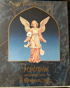 This item is the beautifully sculpted and decorated standing angel. Fontanini Nativity, Collector Cards, Roman, Card Making, Angel, Hand Painted, Sculpture, Pets, Painting