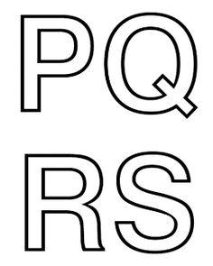 Moldes de letras do alfabeto pra murais e painéis. - Alfabetos Lindos                                                                                                                                                                                 Mais