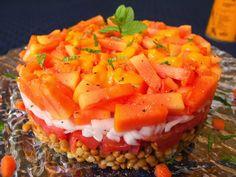 Cocinando con Lola García: Ensalada de lentejas con vinagreta de papaya