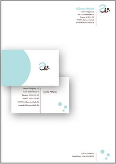 The letterhead and business card