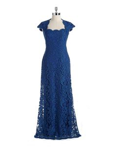 *BLAKE's MOM* Floor-Length Lace Gown | Lord and Taylor