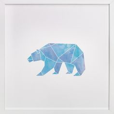 Arctic by Becca Thongkham at minted.com - geometric polar bear