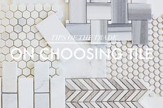 On Choosing Bathroom Tile | Little Green Notebook | Bloglovin'-great article on tile