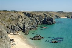 Belle Ile, France. This beach is kind of a hike, but its beautiful.
