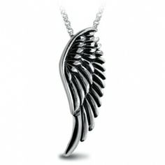 Wings of Demon Antique Silver Necklace for Women | Aimeng-silver.com