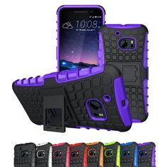 HTC 10 Case, Viodolge [Shockproof] Hybrid Tough Rugged Dual Layer Protective Case Cover with Kickstand for HTC 10 (2016) (purple) >>> Read more reviews of the product by visiting the link on the image.
