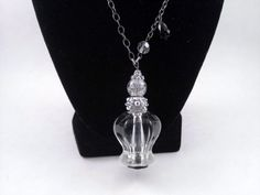 Winter Princess Upcycled Hardware Jewelry Glass by SadiesSnippets
