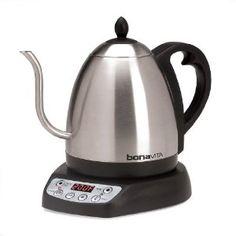 Amazon.com: Bonavita 1-Liter Variable Temperature Digital Electric Gooseneck Kettle: Kitchen & Dining