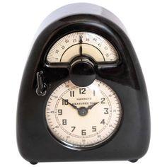 Pristine Streamline Bakelite  Isamu Noguchi Hawkeye Measured Time Clock / Timer 1